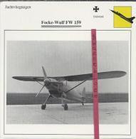 Vliegtuigen.- Focke-Wulf FW 159 - Jachtvliegtuigen. -  Duitsland - Vliegtuigen