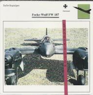 Vliegtuigen.- Focke-Wulf FW 187 - Jachtvliegtuigen. -  Duitsland - Vliegtuigen