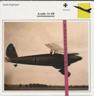 Vliegtuigen.- Arado Ar 68 - Jachtvliegtuigen. -  Duitsland - Vliegtuigen