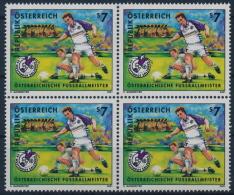**Österreich Austria 2001 ANK 2372 Mi 2337 (1) Block Of 4 Football Sport SV Salzburg MNH - 1945-.... 2. Republik