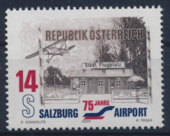 **Österreich Austria 2001 ANK 2374 Mi 2340 (1) Airport Salzburg Plane MNH - 1945-.... 2. Republik
