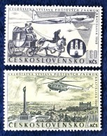 CSSR 1960 Mi. 1226 -7 Yv. PA 49 -50 Postfrisch MNH** - Cecoslovacchia