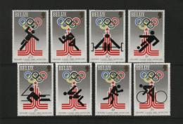 Belize - 1979 - Moscow Olympics, Mi.432A/439A- MNH - Belize (1973-...)