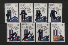 Belize - 1979 - Lake Placid Olympics, Mi.443A/450A - MNH - Belize (1973-...)