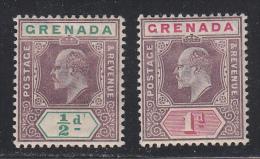 Grenada 1904-06 Mint Mounted, Wmk Multi Crown CA, Sc# 58-59 ,SG 67-68 - Grenada (...-1974)