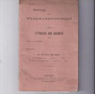 Werkmanswoningen Borgloon Uitreksel Der Rekening  1929 - Vieux Papiers