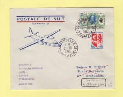 Postale De Nuit - Ligne AF 1080 - Bordeaux - 21-10-1968 - Postmark Collection (Covers)