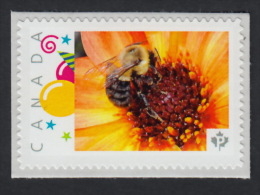 BEE On FLOWER Picture Postage MNH Stamp Canada 2015 [p15/12be4/3] - Bienen