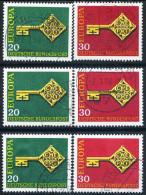 A10-43-2) BRD - 3x Michel 559 / 560 - OO Gestempelt (C) - CEPT 68 - [7] West-Duitsland