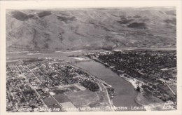 Junction Of Snake And Clearwater Rivers Clarkston Lewiston Idaho Real Photo - Lewiston