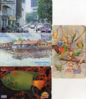 TELECARTES MAGNETIQUES MALAISIE  *$5 *$5 *$10 *$10 Oiseau Poisson  Bird  Fish  (lot De 4) - Malaysia