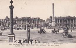 France Paris Place De La Concorde Les Fontaines Et L'Obelisque - France