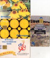 TELECARTES MALAISIE  *RM5 *RM10 *RM20 *RM50  Fruit Fleur Voiture Jeux 98  Fruit Flower Car Games 98 (lot De 4) - Malaysia