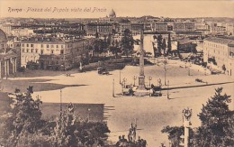 Italy Roma Piazza del Popolo vista dal Pincio