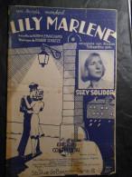 PARTITION LILY MARLÈNE NORBERT SCHULTZE SUZY SOLIDOR 1940 BILINGUE - Musique & Instruments