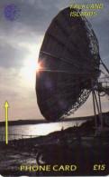 TELECARTE FALKLAND *£15  Station Terrestre  Earth Station - Falkland