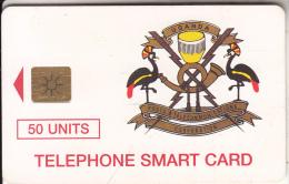 UGANDA - Telecom Logo 50 Units, Without Tirage On Reverse, Chip GEM1.2, Used - Uganda
