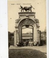 59 LILLE  L´Abattoir Porte Principale Animée Etat LUXE - Lille