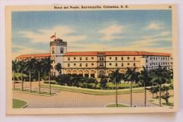 HOTEL DEL PRADO, BARRANQUILLA, COLOMBIA, 1953, Linen Postcard - Colombia