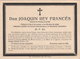 BARCELONE .- Don JOAQUIN REY FRANCES ( Lérida ) - Avvisi Di Necrologio