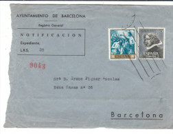 BARCELONA . Notification - Vieux Papiers