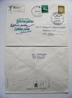 Cover Sent From Lithuania 1993 Vilnius Registered Special Cancel Fdc Postal Stationery Coat Of Arms - Lithuania