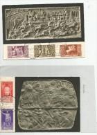 G 07 P)  MOSTRA AUGUSTEA DELLA ROMANITA´ 2 CARTOLINE CON 7 VALORI - 1900-44 Vittorio Emanuele III
