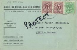 Malderen :  Marcel De Boeck :  Ijzerwaren    (  2 Scans ) - Londerzeel