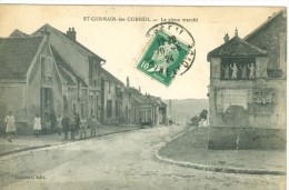(91) ST-GERMAIN-les-CORBEIL : Le Vieux Marché (petite Animation) - Frankrijk