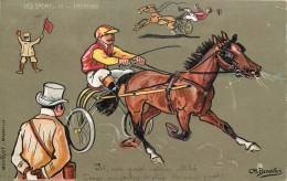 LES SPORTS - Trotting équitation Courses, Carte Illustrée Par Charles Beauvais. - Reitsport