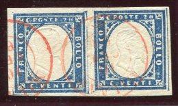 1861-SARDEGNA-COPPIA 20 C.-LUXE ! - Sardinia