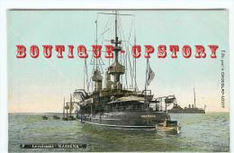 """MARINE De GUERRE - CUIRASSE  """" MASSENA """" - EDITION CHOCOLAT LOUIT - BATEAU - NAVIRE NAVALE - BATEAUX - DOS SCANNE - Warships"""