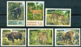 1977 Bangladesh Animali Animals Animaux Set MNH** B531 - Bangladesh