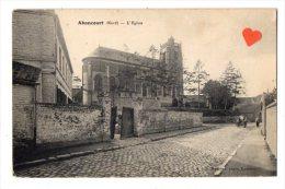 03650-LE-59-Abancourt-L' Eglise-----------animée-attelage-ane - France