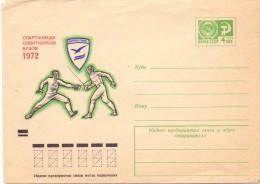 RUSSIA CCCP 1972 FENCING AIR MAIL  (F160251) - Scherma