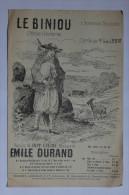PARTITION - LE BINIOU - PAROLES : H. GUERIN - MUSIQUE : E. DURAND - CHANSON BRETONNE - REGIONNALISME - Song Books