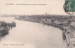 Cp , 44 , NANTES , Vue Vers L'entrée Du Port Prise Du Transbordeur - Nantes