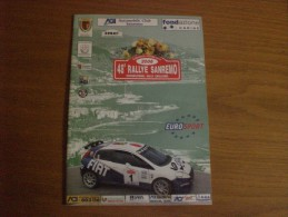 RALLY SANREMO 2006 PROGRAMMA - Carreras De Carros