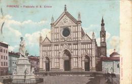 Postkarte Ppc Firenze, Facciata Di S. Croce, Gelaufen 1907 To LISBON, US GERMAN SEEPOST SEAPOST - Maritime