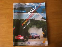 RALLY SARDEGNA 2009 PROGRAMMA - Corse Di Auto