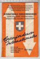 SBB CFF FFS ° Correspondances Internationales / Internationale Zugsverbindungen / Corrispondenze Internazionali - Europe