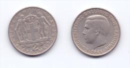 Greece 2 Drachmas 1966 - Griekenland