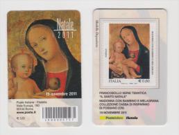 2011 - ITALIA -  TESSERA FILATELICA  NATALE RELIGIOSO - Tarjetas Filatélicas