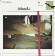 Vliegtuigen.- Polikarpov I-16 - Jachtvliegtuigen. -  Sovjet-Unie - Vliegtuigen