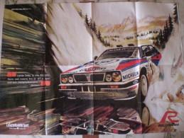 RALLY SANREMO POSTER PUBBLICITARIO FORMATO GRANDE DOPPIA IMMAGINE 60 X 82 - Corse Di Auto