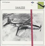 Vliegtuigen.- Convair XP-81 - Jachtvliegtuigen. -  V.S. - U.S.A. - Vliegtuigen