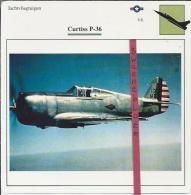 Vliegtuigen.- Curtiss P-36 - Jachtvliegtuigen. -  V.S. - U.S.A. - Vliegtuigen