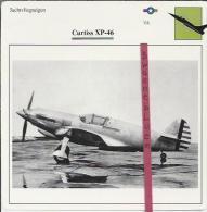 Vliegtuigen.- Curtiss XP-46 - Jachtvliegtuigen. -  V.S. - U.S.A. - Vliegtuigen