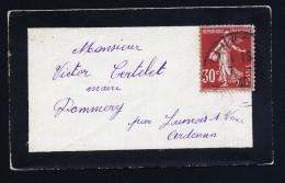 A3687) France Frankreich Kleiner Damen-Trauerbrief 1940 - Frankreich