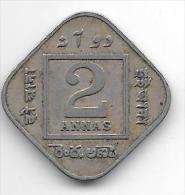 *india Britisch 2 Anna  1918 C Km 516  Fr+ - Inde